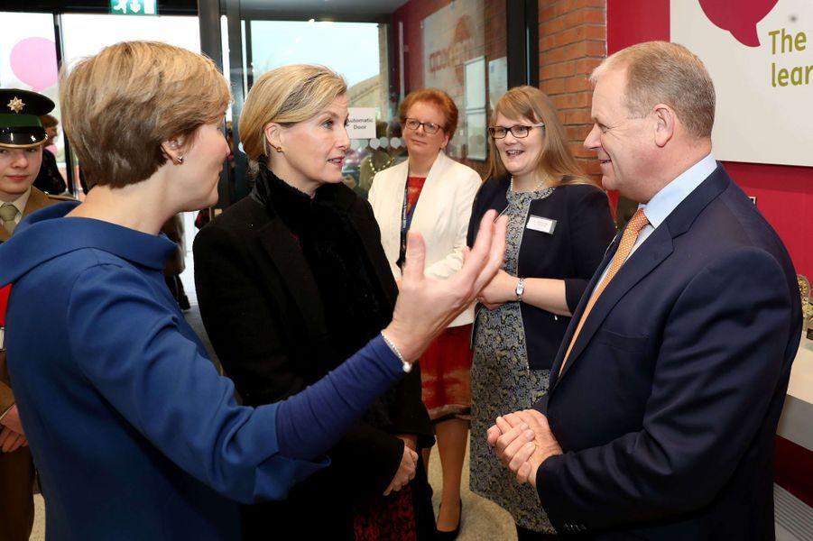 La comtesse Sophie de Wessex à Belfast en Irlande du Nord, le 23 janvier 2018