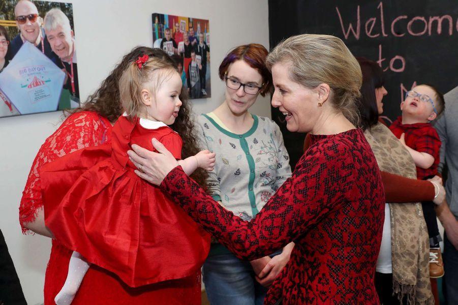 La comtesse Sophie de Wessex à Belfast, le 23 janvier 2018