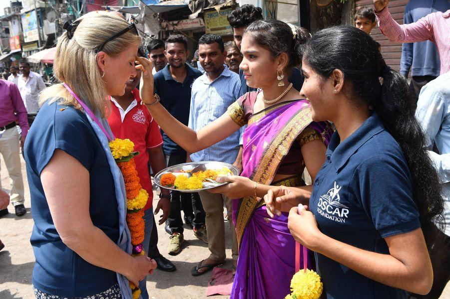 La comtesse Sophie de Wessex en Inde, le 1er mai 2019