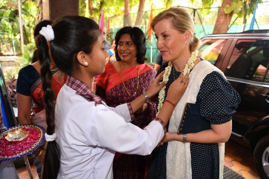 La comtesse Sophie de Wessex en Inde, le 3 mai 2019