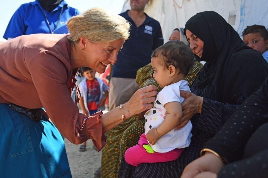La comtesse Sophie de Wessex avec des réfugiés au Liban, le 12 juin 2019
