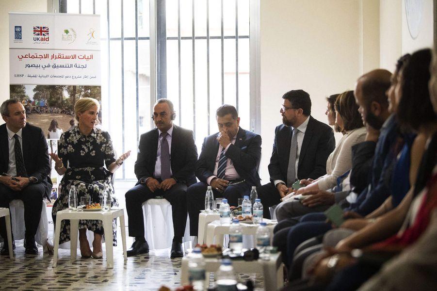 La comtesse Sophie de Wessex avec le maire de Beyrouth, le 13 juin 2019