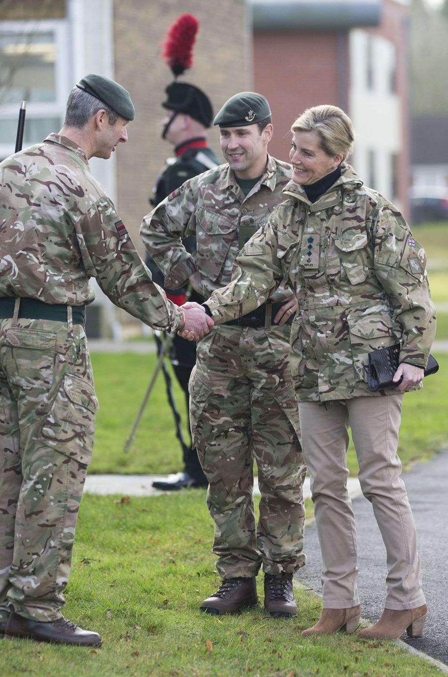 La comtesse Sophie de Wessex au Bulford Camp à Salisbury, le 11 janvier 2017