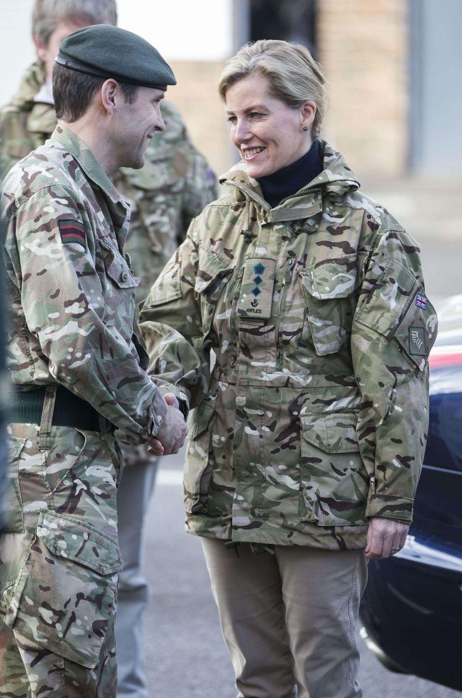 La comtesse Sophie de Wessex à Salisbury, le 11 janvier 2017