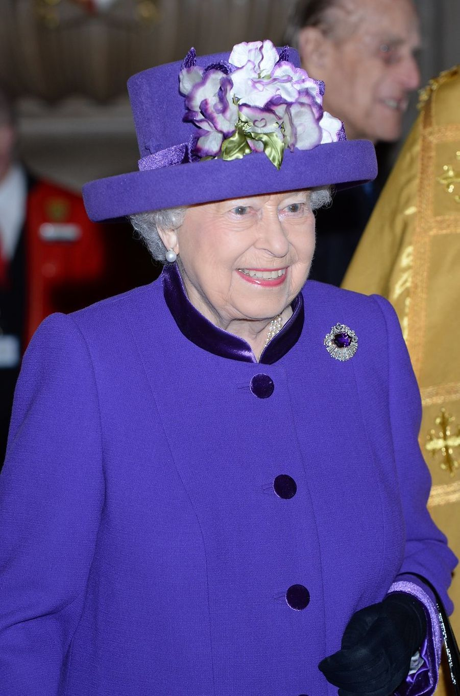 La reine Elizabeth II à l'Abbaye de Westminster à Londres, le 24 novembre 2016