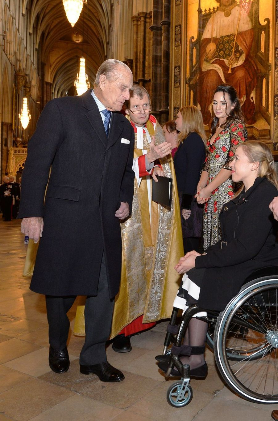 Le prince Philip à l'Abbaye de Westminster à Londres, le 24 novembre 2016