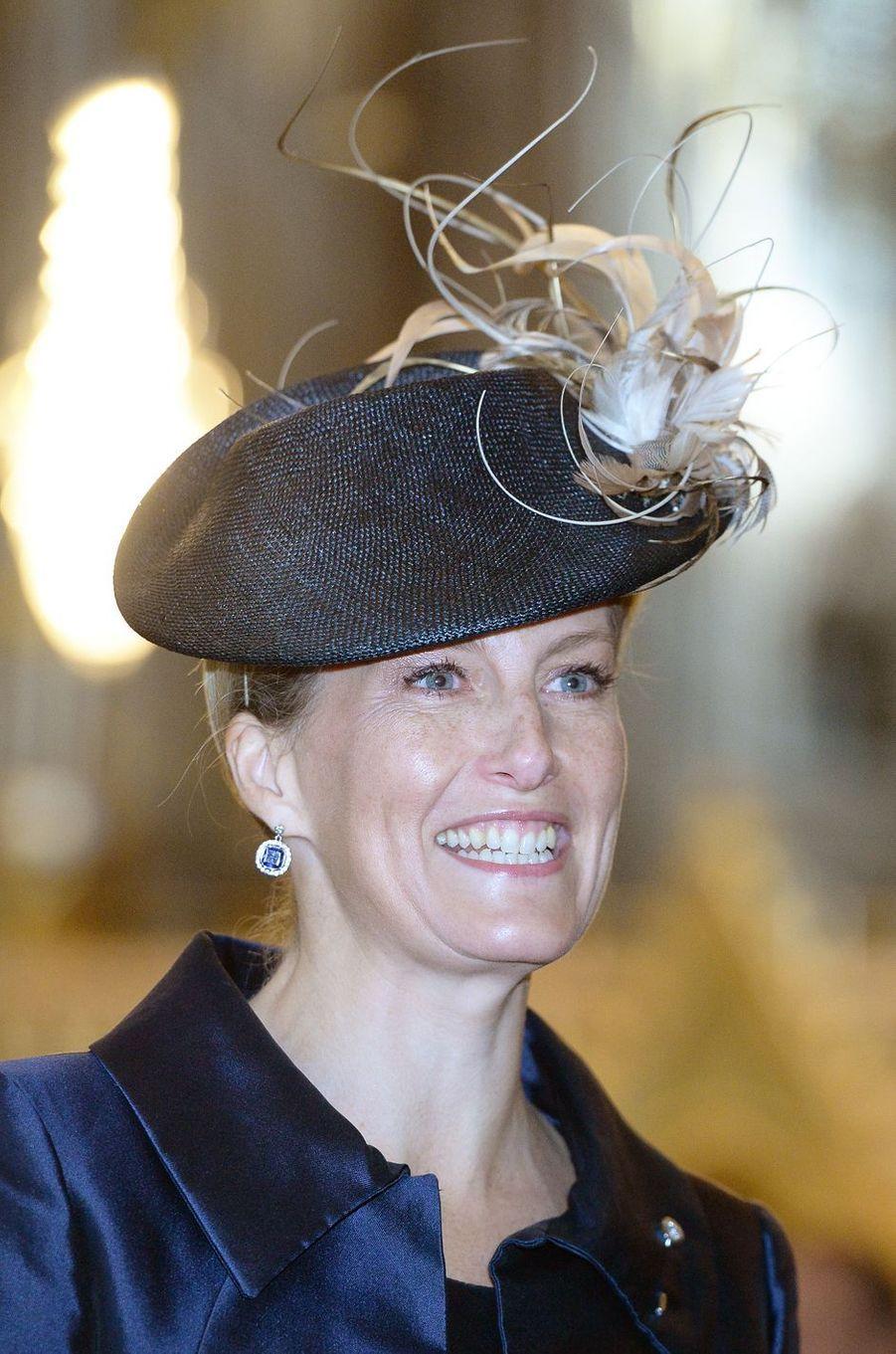 Sophie de Wessex à l'Abbaye de Westminster à Londres, le 24 novembre 2016
