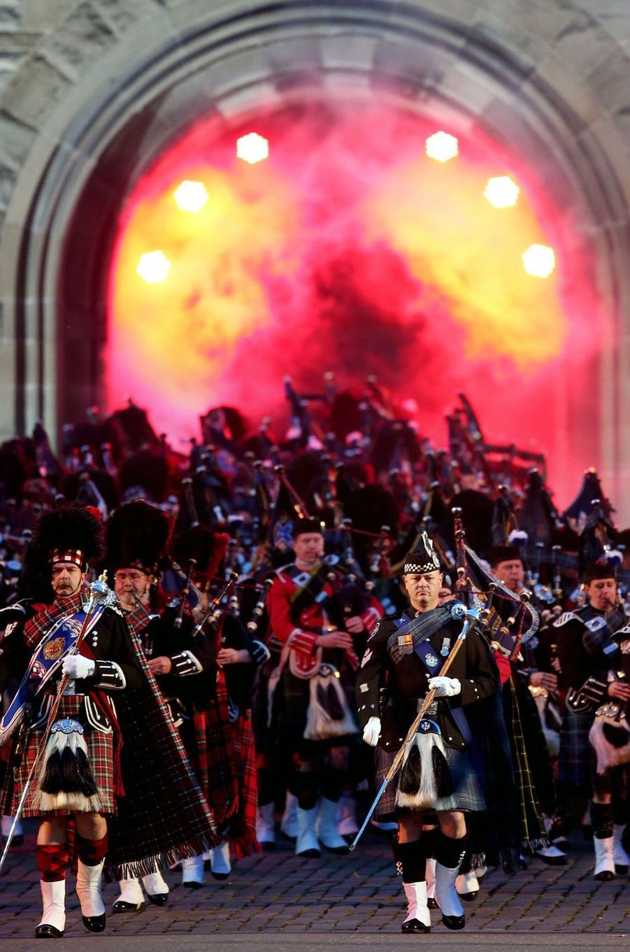 Spectacle du Royal Edinburgh Military Tattoo à Edimbourg, le 16 août 2017