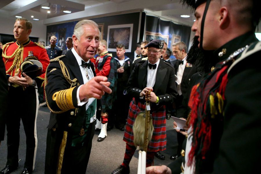 Le prince Charles au Royal Edinburgh Military Tattoo à Edimbourg, le 16 août 2017
