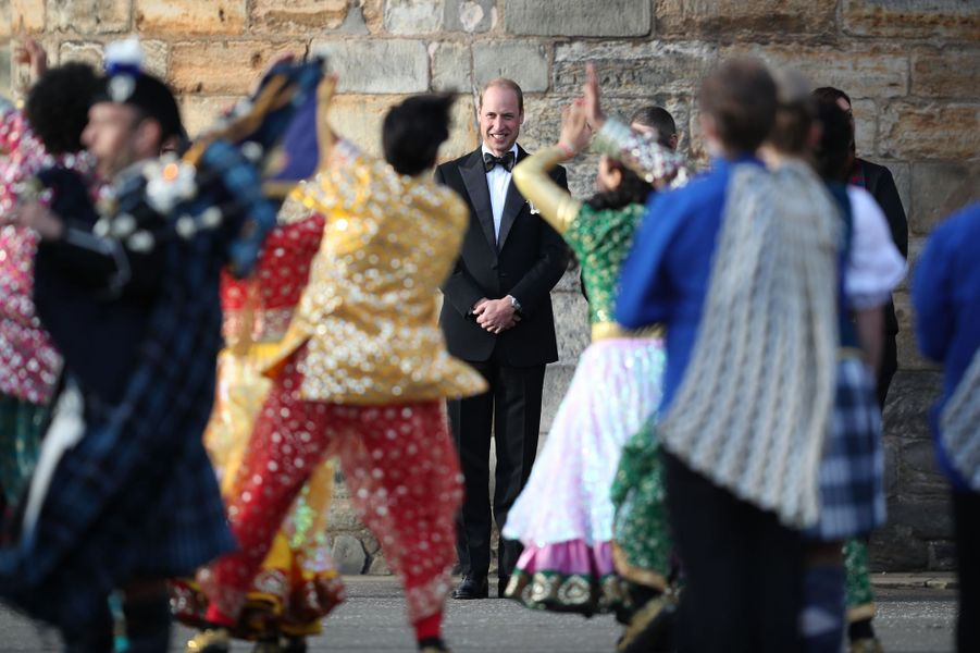 Le prince William au château de Holyroodhouse à Edimbourg, le 16 août 2017