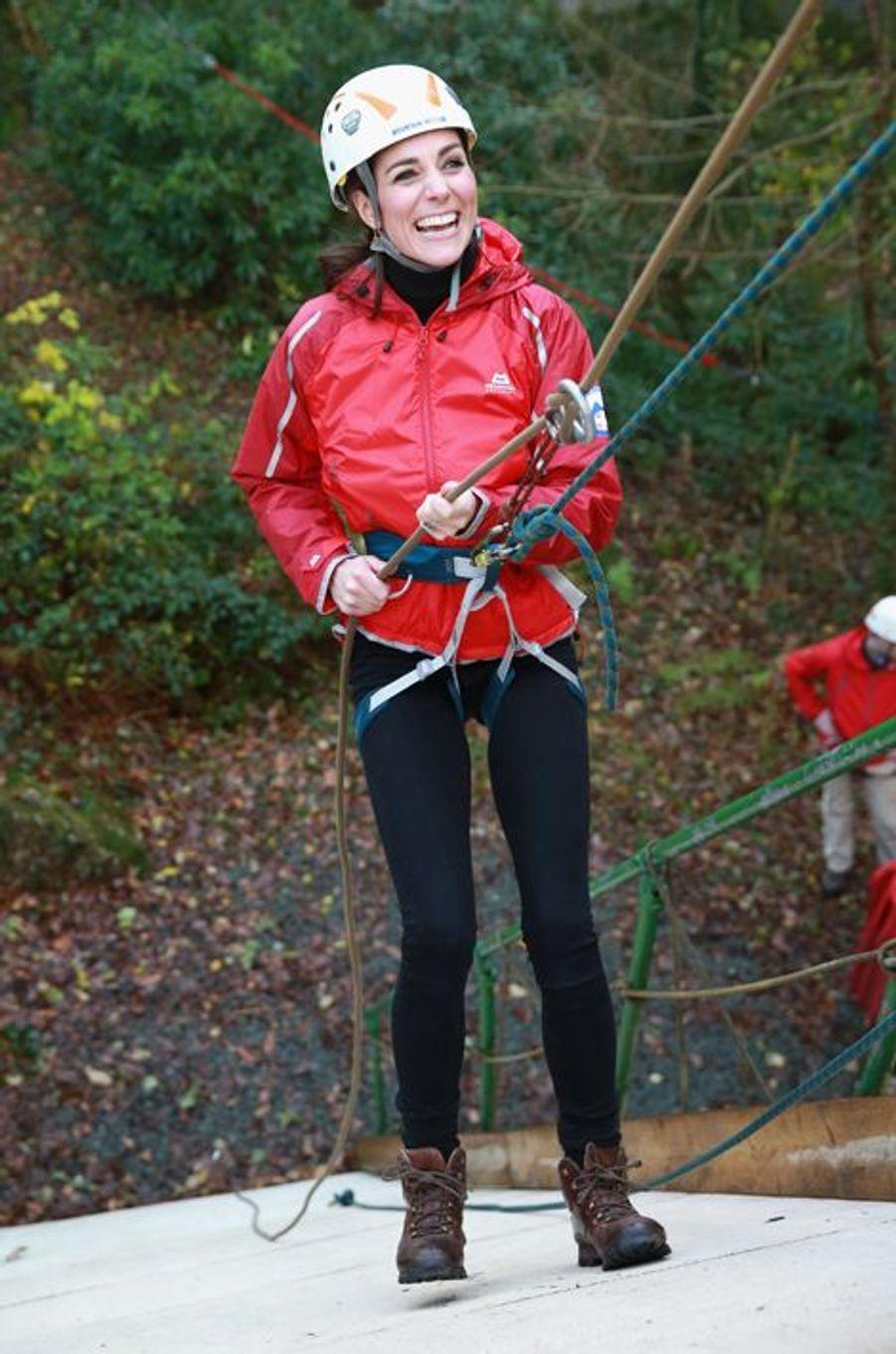 La duchesse de Cambridge Kate à Capel Curig en Galles du Nord, le 20 novembre 2015