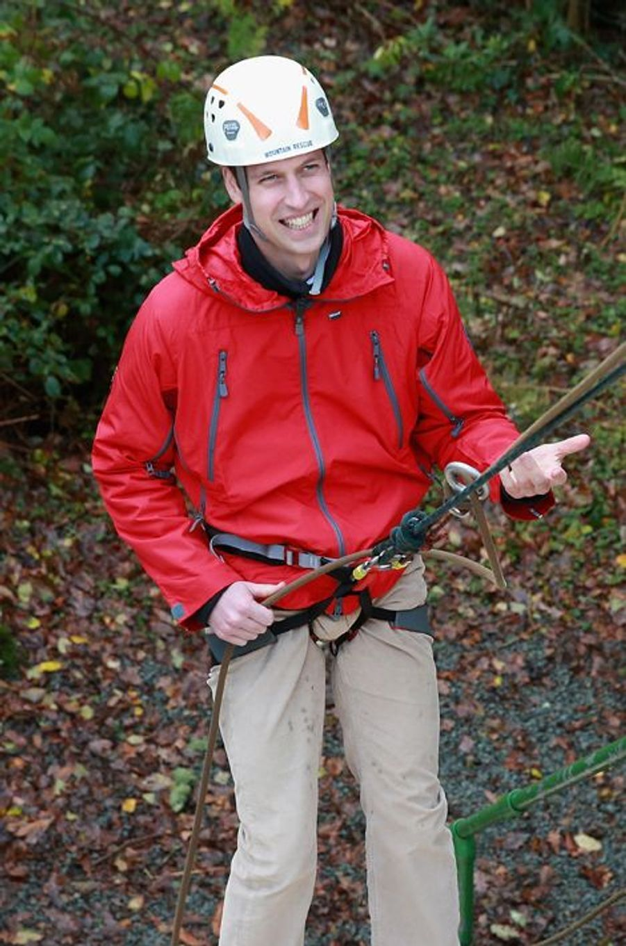 Le prince William à Capel Curig en Galles du Nord, le 20 novembre 2015