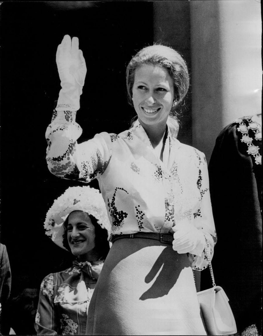 La princesse Anne le 28 février 1974