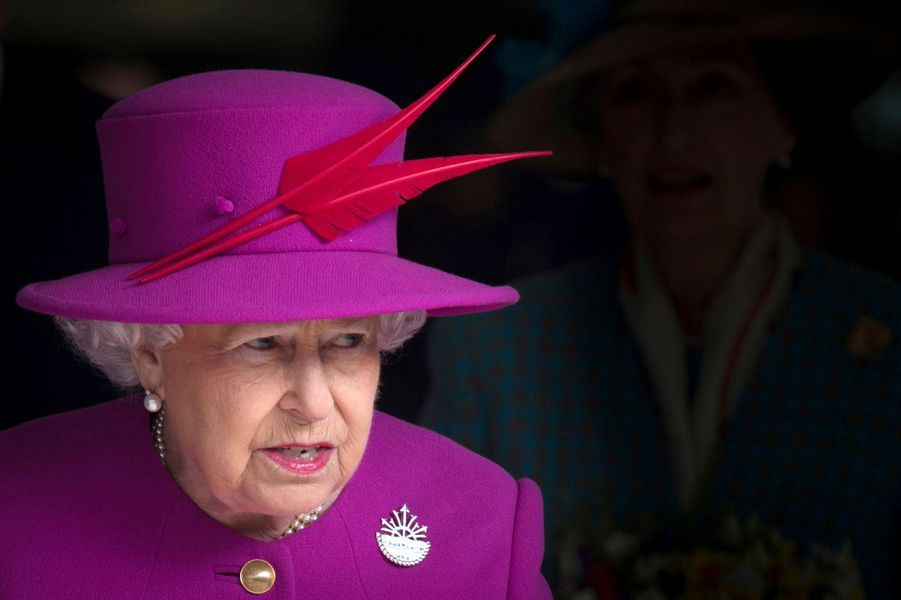 La reine Elizabeth II à Plymouth, le 20 mars 2015