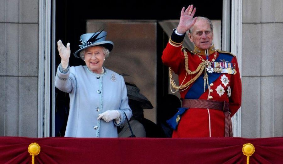 La Reine et le Prince Consort au balcon