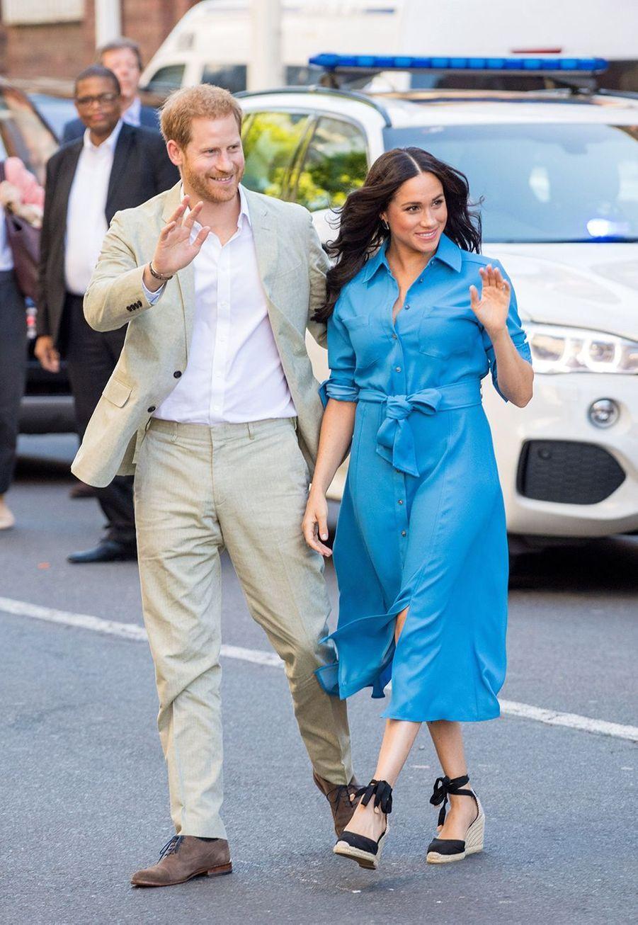 Meghan Markle et le prince William lors du 1er jour de leur séjour en Afrique du Sud en septembre 2019.