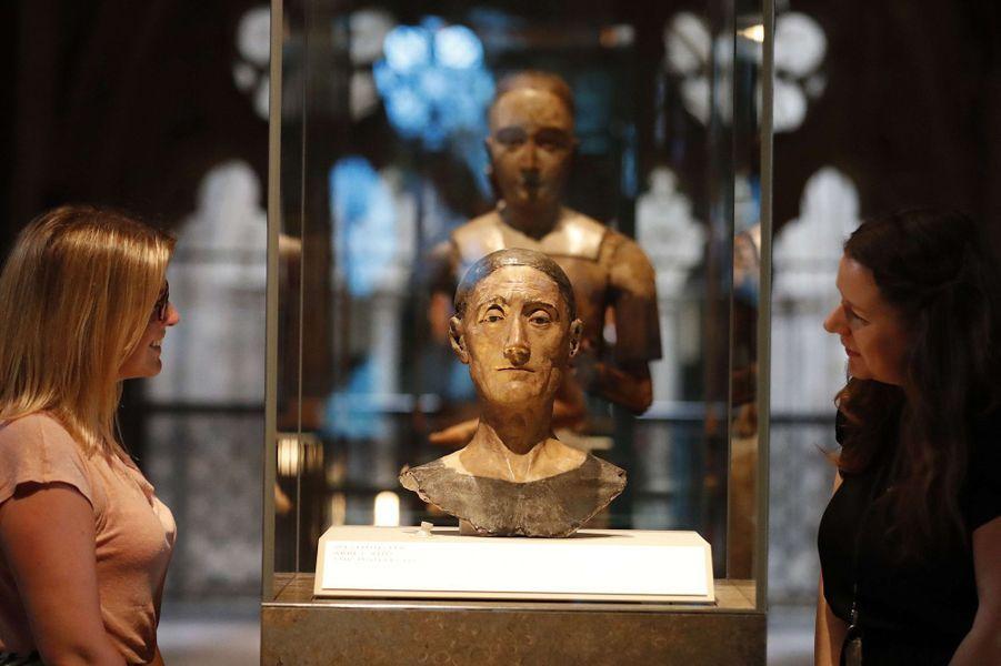 Effigie funéraire du roi Henry VII. Musée des Queen's Diamond Jubilee Galleries à Westminster Abbey, le 29 mai 2018