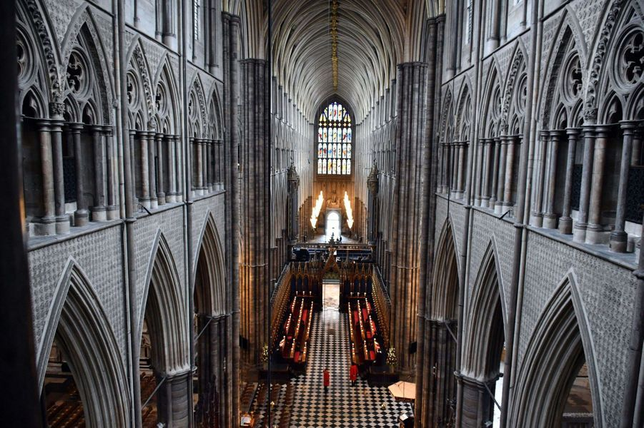 La vue depuis les Queen's Diamond Jubilee Galleries à Westminster Abbey, le 29 mai 2018