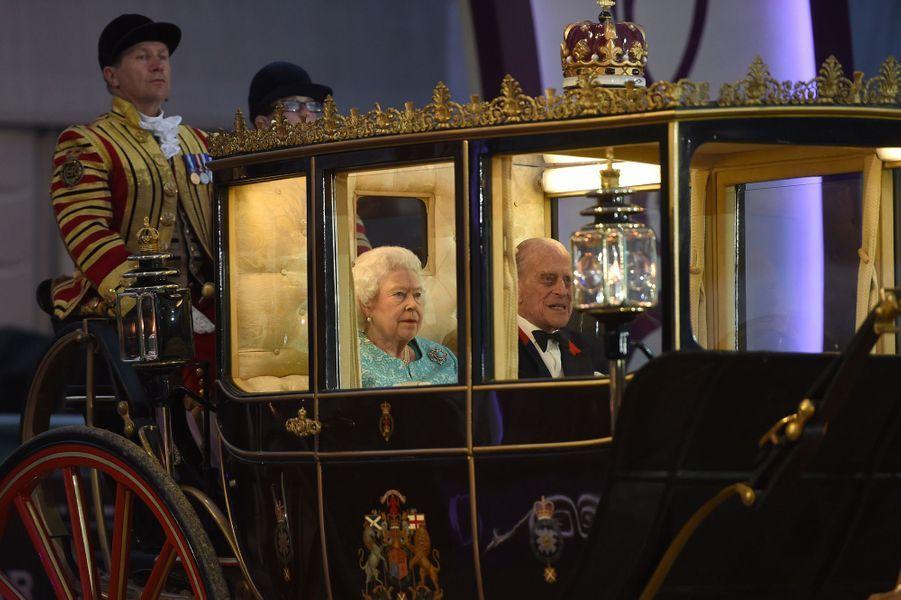 La reine Elizabeth II et le prince Philip à Windsor, le 15 mai 2016