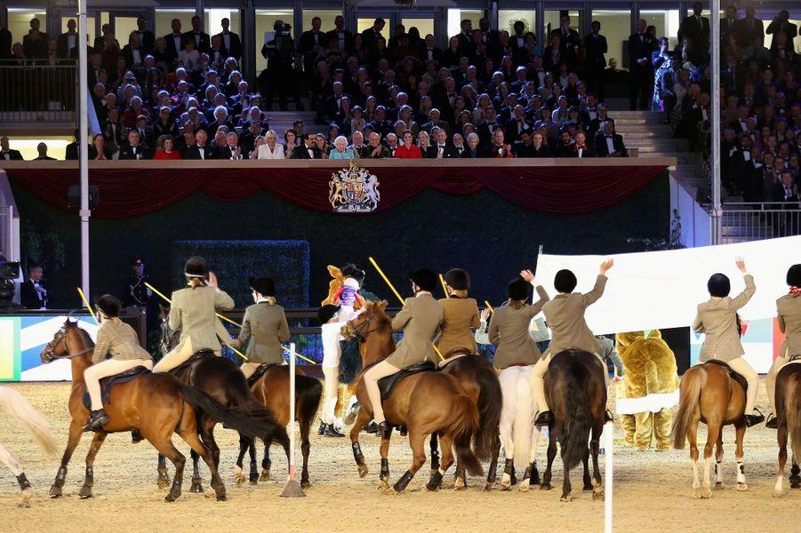 Spectacle pour les 90 ans d'Elizabeth II à Windsor, le 15 mai 2016