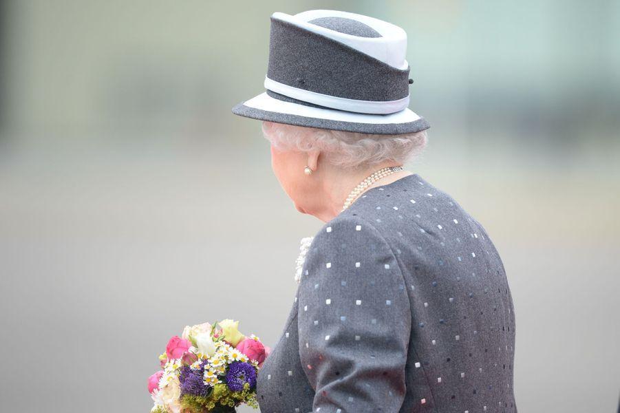 La reine Elizabeth II et le prince Philip à l'aérodrome militaire de Celle, le 26 juin 2015