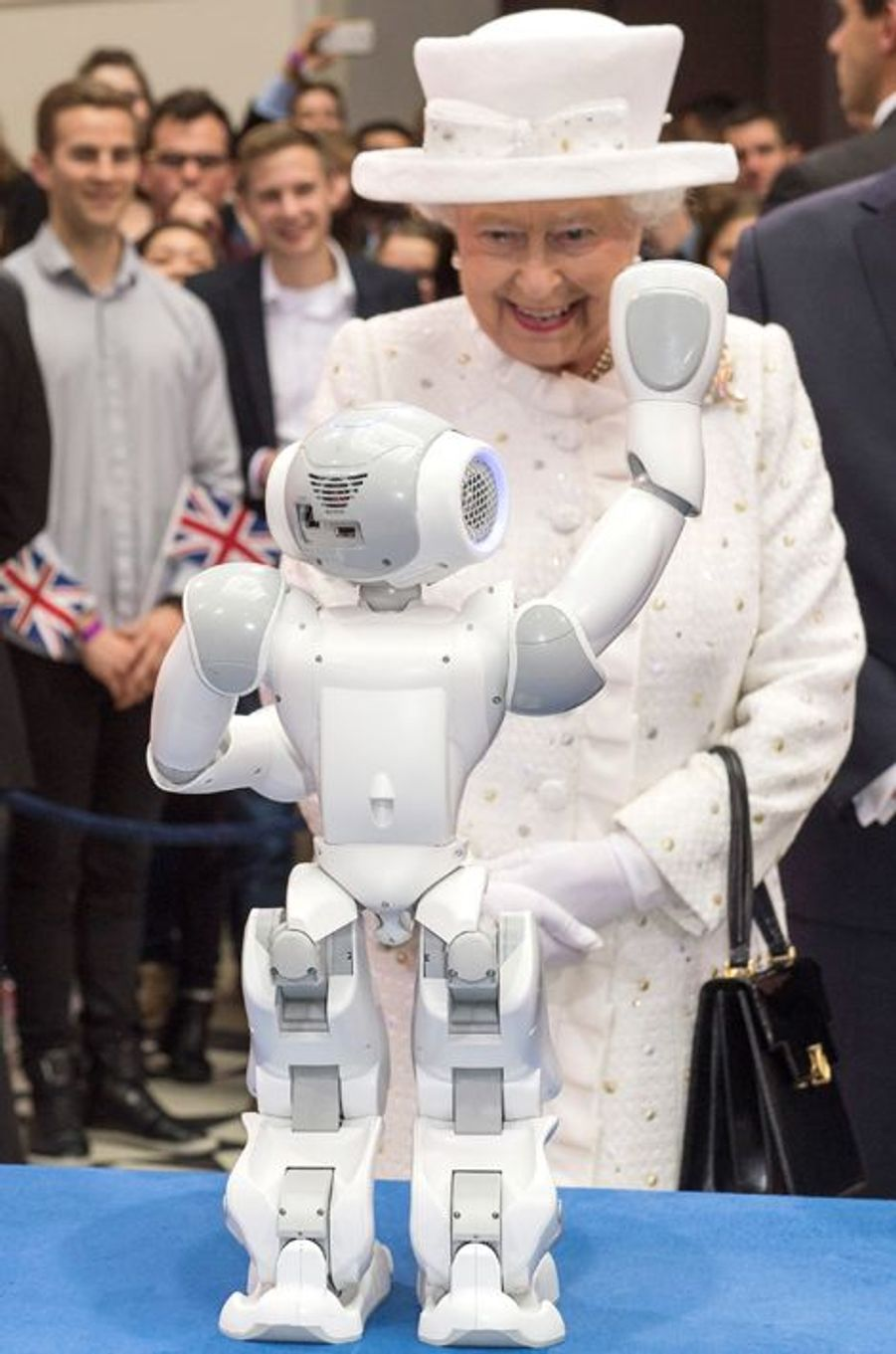La reine Elizabeth II à l'Université technique de Berlin, le 24 juin 2015