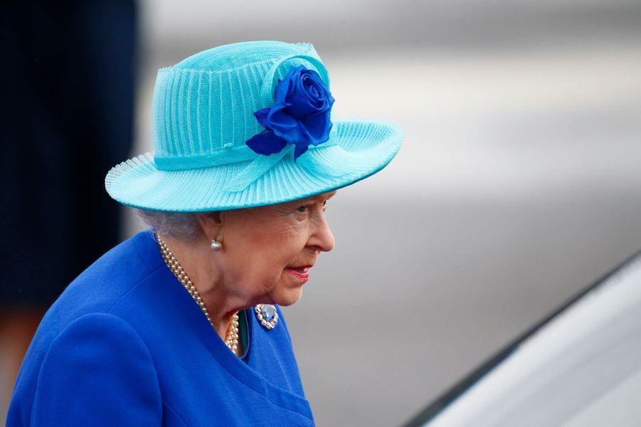 La reine Elizabeth II à son arrivée à Berlin, le 23 juin 2015