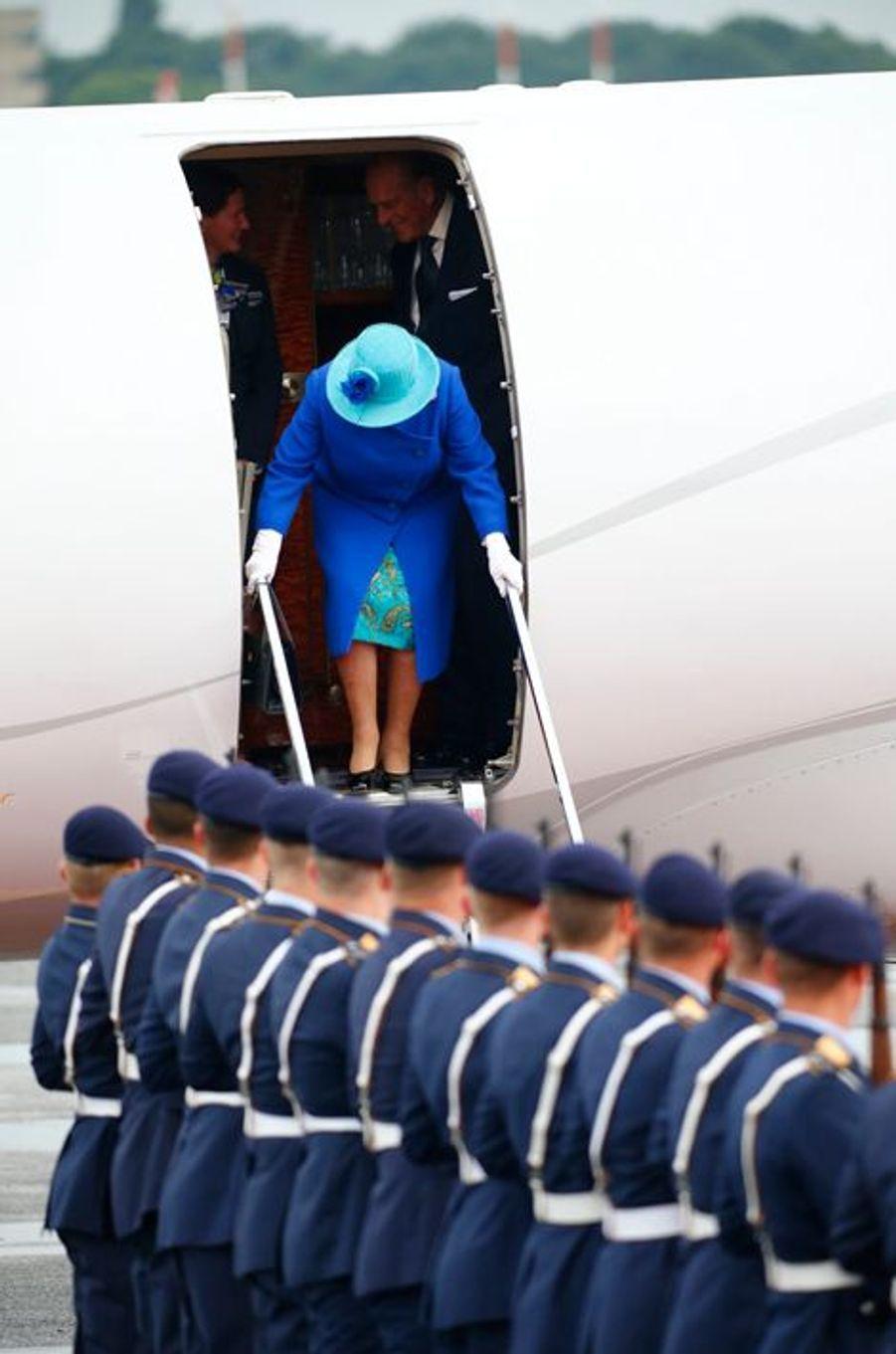 La reine Elizabeth II arrive à Berlin, le 23 juin 2015