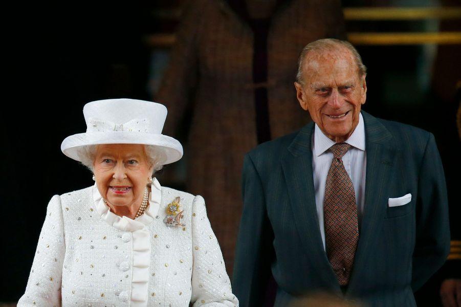 La reine Elizabeth II et le prince Philip à Berlin, le 24 juin 2015