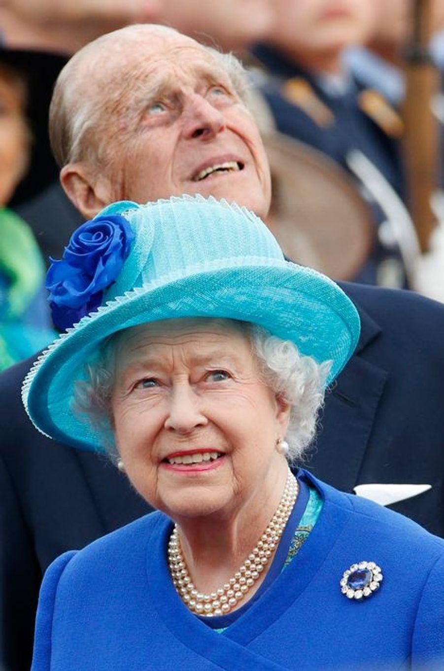La reine Elizabeth II et le prince Philip à leur arrivée à Berlin, le 23 juin 2015