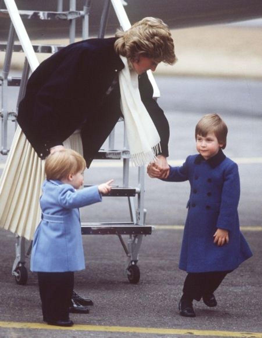 1986 - Avec Diana et Harry