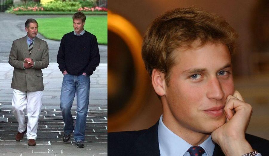 Première photo : Arrivée avec son père. Deuxième photo : Lors d'une interview à l'occasion de son entrée à l'Université.