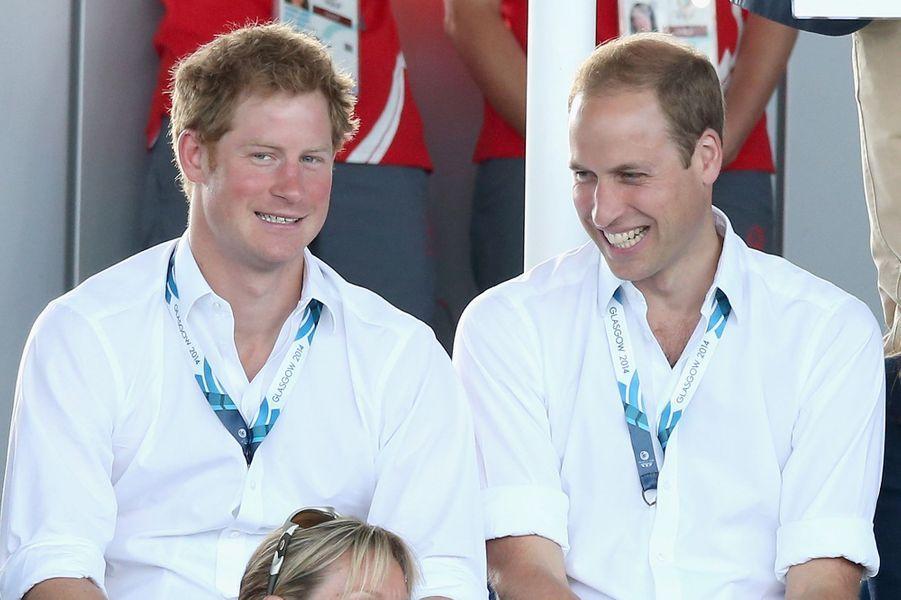 Le prince Harry et le prince William à la 20e édition des Jeux du Commonwealth en juillet 2014