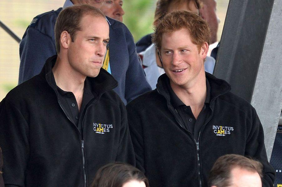Le prince William et le prince Harry aux Invictus Games à Londres en septembre 2014