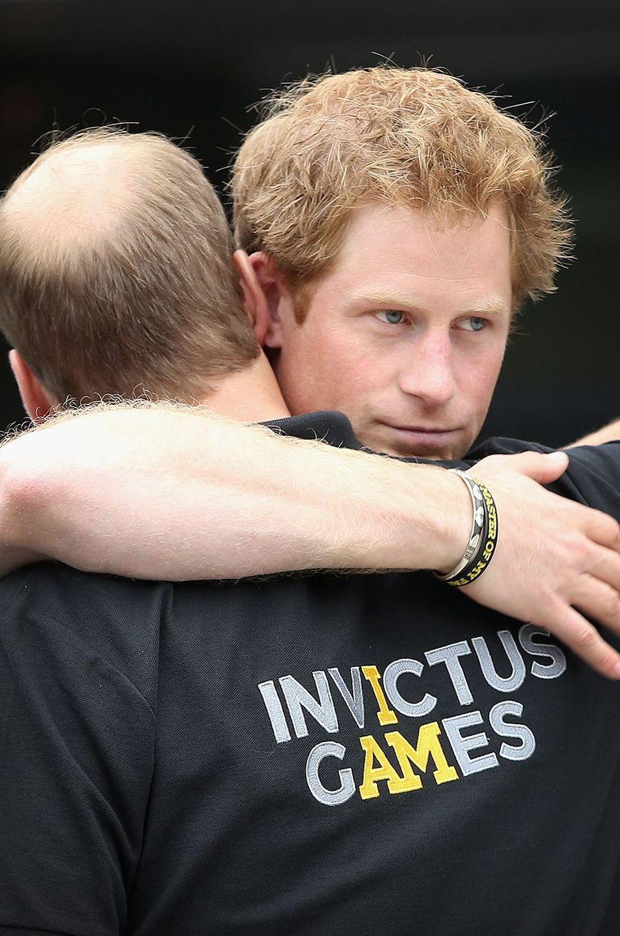 Le prince William et le prince Harryaux Invictus Games à Londres en septembre 2014