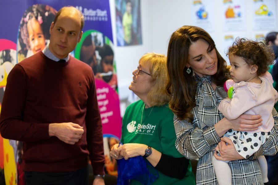 Kate et William àBradford, mercredi.