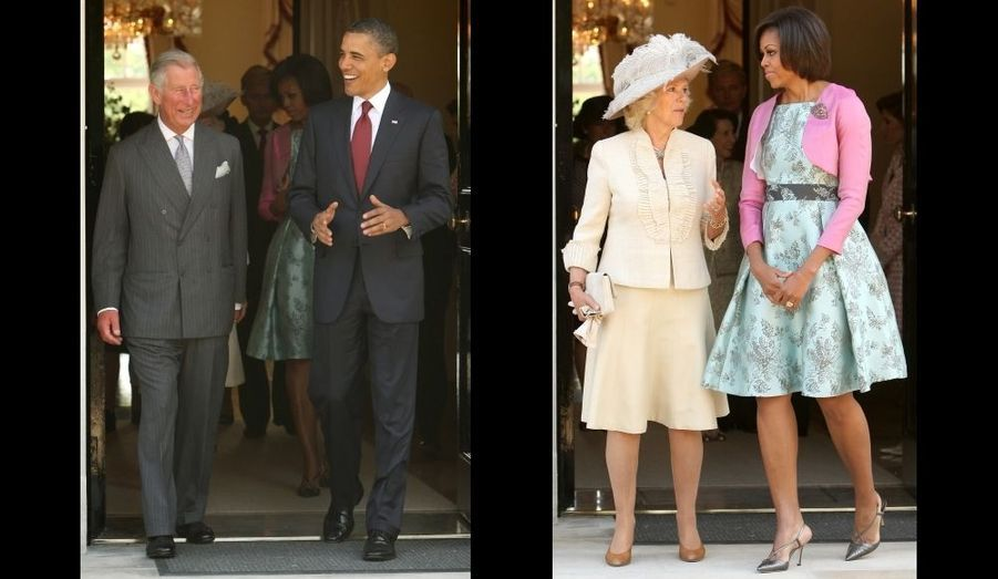 Barack et Charles, Camilla et Michelle