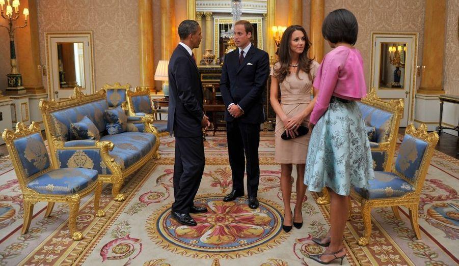 Les Obama et les Cambridge
