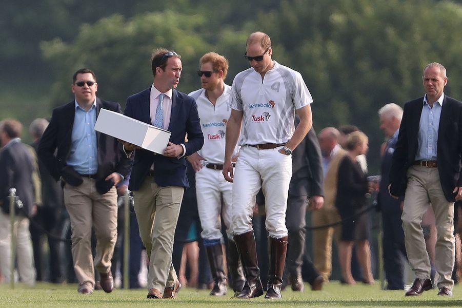 Les princes William et Harry à Ascot, le 28 mai 2016