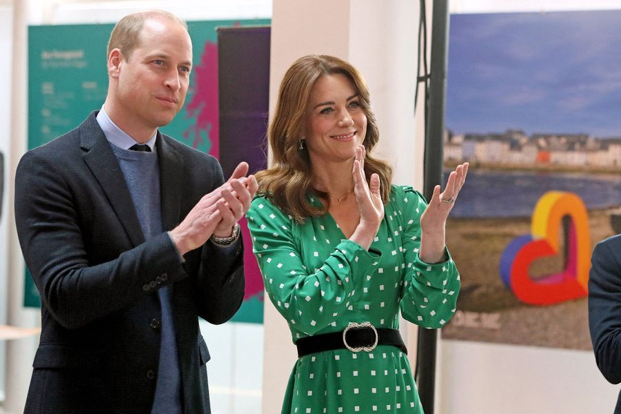 Kate Middleton et le prince Williamen visite à Galway, en Irlande, le 5 mars 2020