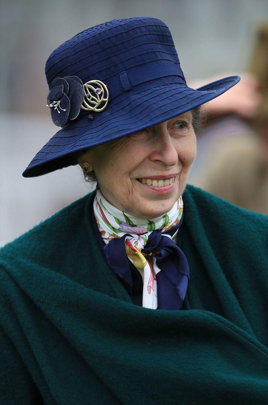 La princesse Anne au Cheltenham Festival, le 17 mars 2017