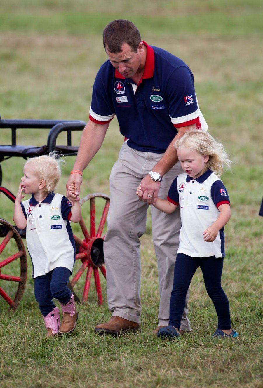 Peter Phillips avec les petites Isla et Savannah