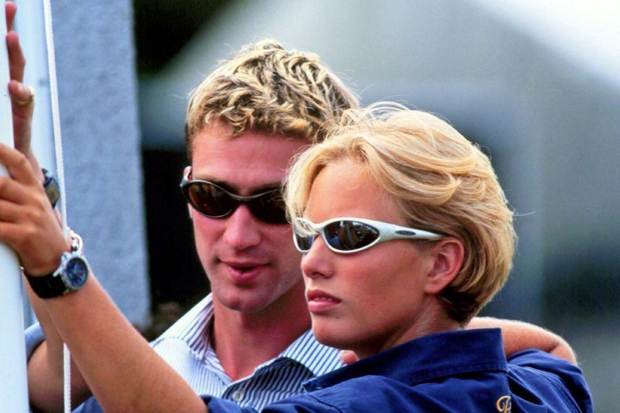 Avec son premier petit ami en 1998 à Gloucestershire