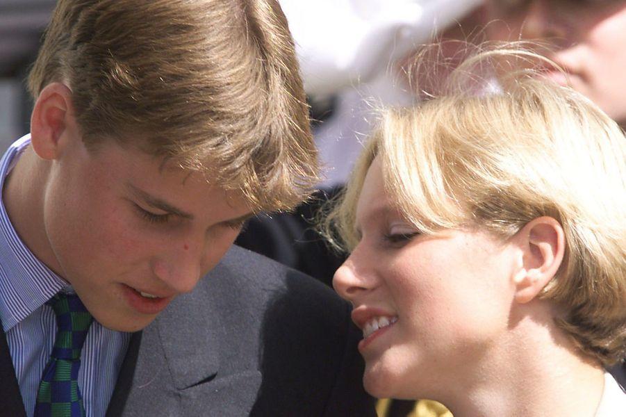Avec William, aux 98 ans de la reine-mère, en 1998