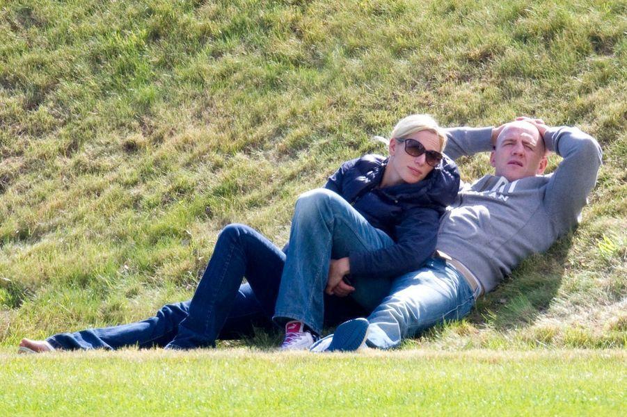 Moment de détente entre amoureux au Beaufort Polo Club, en 2011