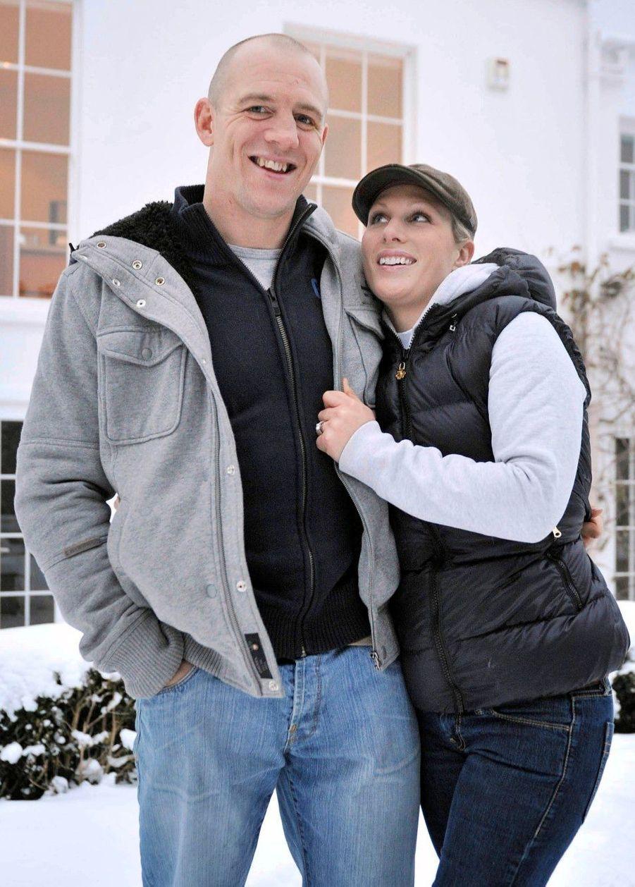 Photo officielle des fiançailles avec Mike Tindall en 2010