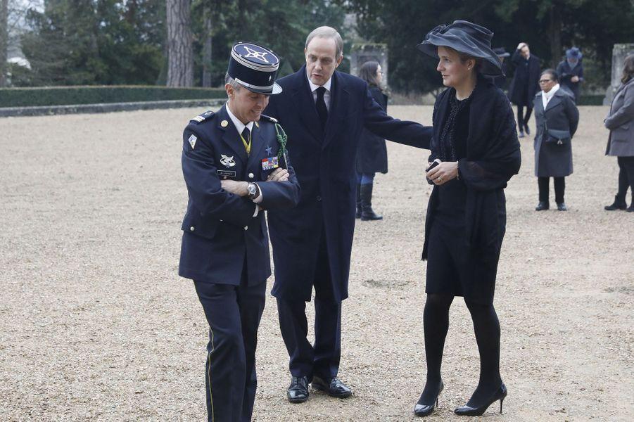 Le prince Jean d'Orléans et sa femme la princesse Philomena, à Dreux le 6 janvier 2018