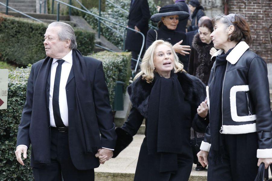 Le prince Michel d'Orléans (oncle du défunt) et sa femme la baronne Barbara de Posch-Pastor, à Dreux le 6 janvier 2018
