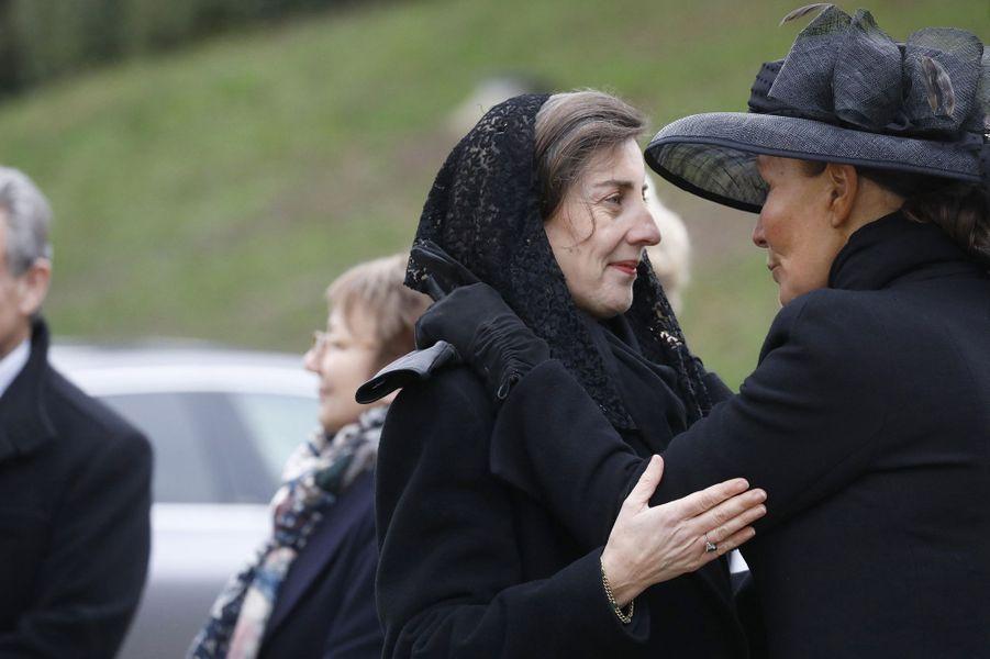Marie-Liesse de Rohan Chabot, épouse du prince Eudes d'Orléans, et la princesse Isabelle de Liechtenstein, à Dreux le 6 janvier 2018