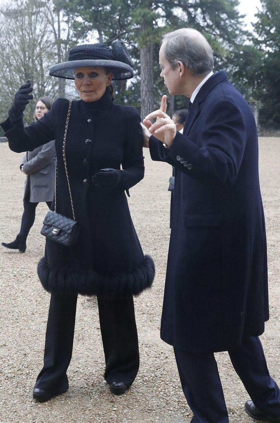 Le prince Jean d'Orléans avec la princesse Isabelle de Liechtenstein, à Dreux le 6 janvier 2018